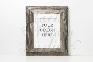 Rustic Frame Styled Mockup #F110