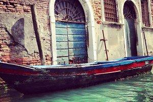 Italy Venice Old Boat