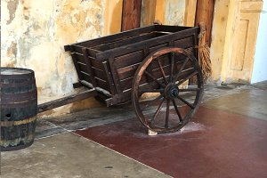 Wooden Vintage Cart Wagon