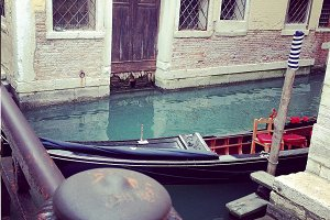 Gondola Parked In Canals