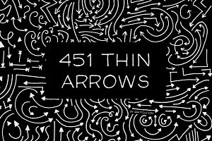 451 Hand Drawn Vector Arrows