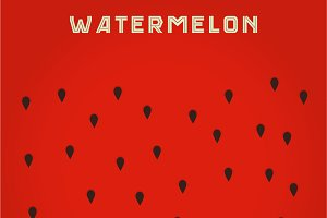 background of the watermelon