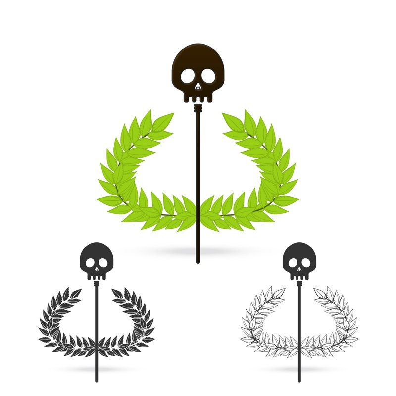 skull symbol of greek god hades ~ Logo Templates ...