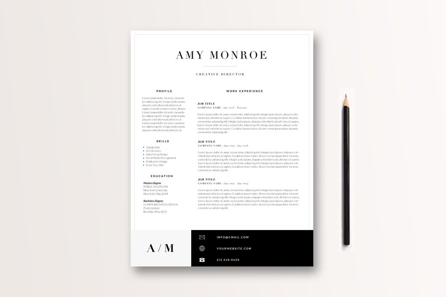 Classic Resume Template 3 Page