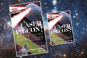 Radical Pigeon Poster Template