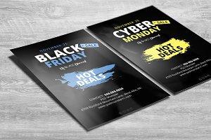 Dark Black Friday Cyber Monday Flyer