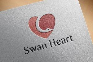 Beautiful Cute Swan Heart Love