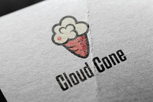 Cloud Sweet Ice Cream Cone