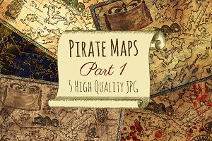 Vintage pirate maps