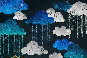 Shimmering Rain Clipart