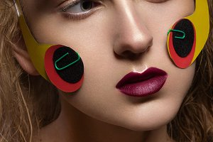 Creative makeup with colorful paper