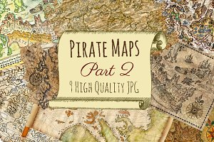 Vintage pirate maps. Part 2