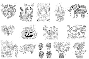 14 coloring pages picked by Cara