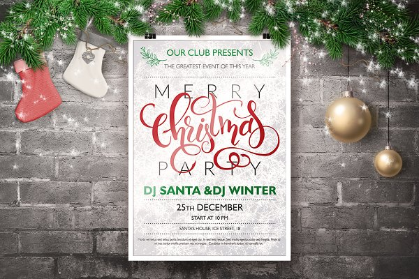 Christmas Poster with Lettering