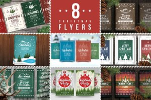 8 Christmas Flyers Bundle