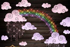 Sparkling Rain Clipart
