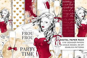 Party Fashion Girl Paper Pack