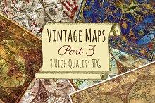 Vintage atlas maps. Part 3