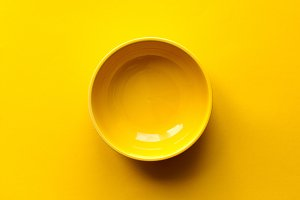 Yellow empty bowl