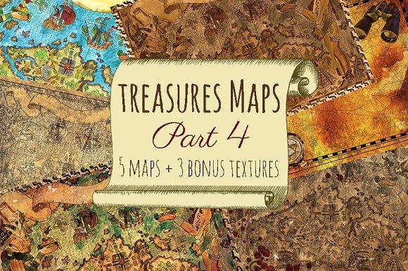 Vintage Treasure Maps. Part 4 - Illustrations