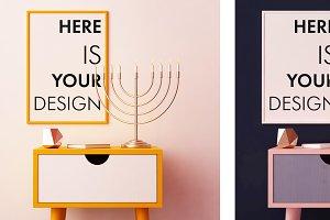4 mockups posters for Hanukkah