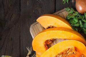 Autumn food background