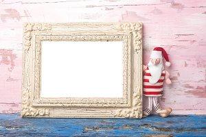 Christmas vintage photo frame