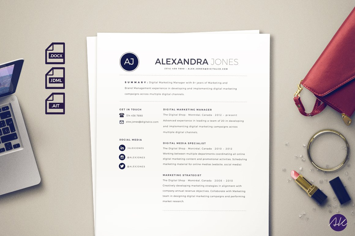 beautiful resume template resume templates creative market. Resume Example. Resume CV Cover Letter