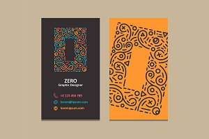 Number 0 Logo Business card