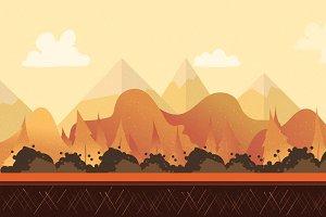 Autumn Seamless Landscape