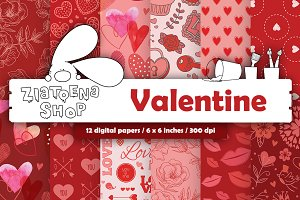 Valentine Paper pack vol. 2