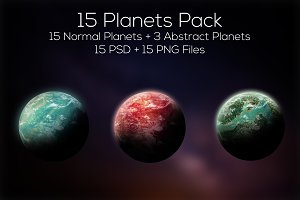 Planets Pack 3 (15 Planets)