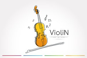 The stylized image of Violin
