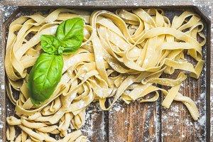Various homemade Italian pasta
