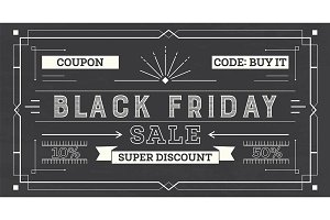 Black Friday Sale Retro Background
