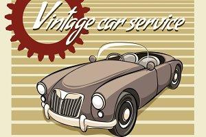 Vintage Car Service poster