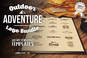 Outdoors Travel Branding Logo Bundle