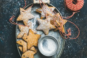 Christmas star & gingerbread cookies
