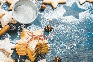 Christmas cookies & fir-tree branch