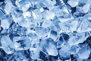 Natural ice cubes.