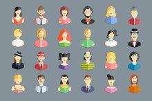 large set of avatars