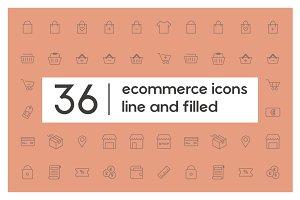 36 Ecommerce Icons