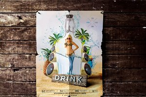 Summer Drink Party Flyer