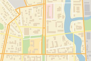 Random city map template