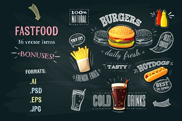 Fastfood vector pack