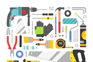 Construction equipment tools