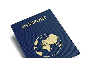 Blue international passport