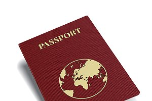 Red international passport
