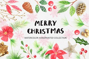 Watercolor Christmas Design Pack