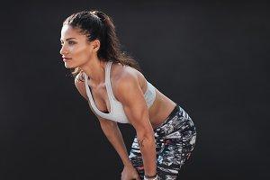 Muscular female model